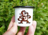 Smaltovaný hrneček opice