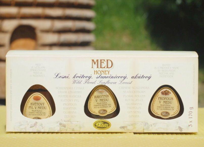Tři druhy medu - dárek