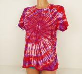 Batikované tričko dámské bordó