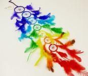 DUHOVÝ LAPAČ SNŮ 7 kruhů Barvy čaker