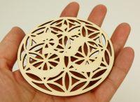 Dřevěný podtácek symbol Óm