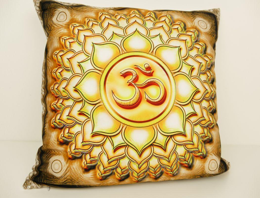 Povlak na polštář se symbolem óm
