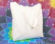 Velká bílá nákupní taška bavlna