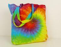 Velká látková duhová taška nákupní