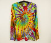 Batikované tričko duhové Šaman
