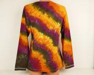 Dámské batikované tričko OHNIVÉ VLNY, XL