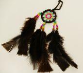 Indiánský lapač snů malý hnědý