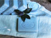Lněné mýdlo s modrým jílem