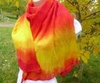 Ohnivá šála batika