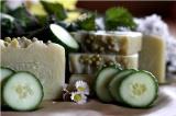 Okurky a mandle - jemné přírodní mýdlo, 50g