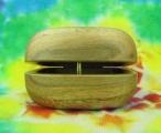 Dřevěná krabička ořech - oblá Šťastní lidé