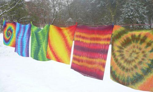 šátky nákrčníky tunely všechny barvy batika