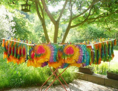 Dětská trička pro školku batika