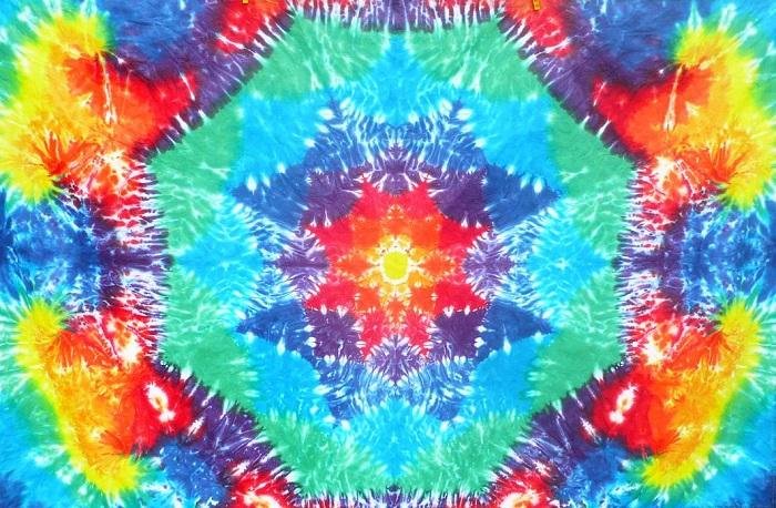 Batikovaná trička mandaly